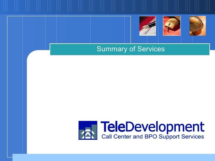 TeleDevelopment Services