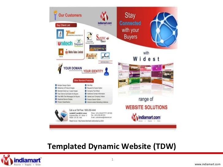 Templated Dynamic Website (TDW)