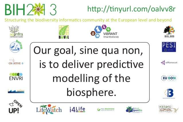 http://tinyurl.com/oalvv8r Structuring the biodiversity informatics community at the European level and beyond ViBRANT  Vi...