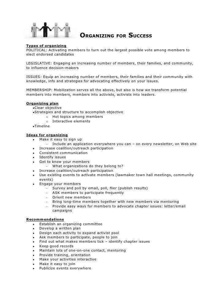 2009 Political Organizing Handout