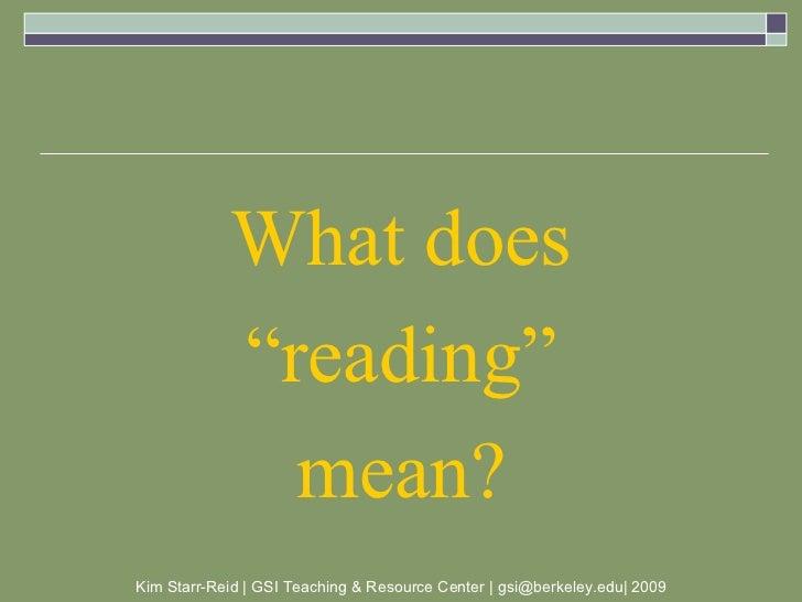 Teach crit-reading