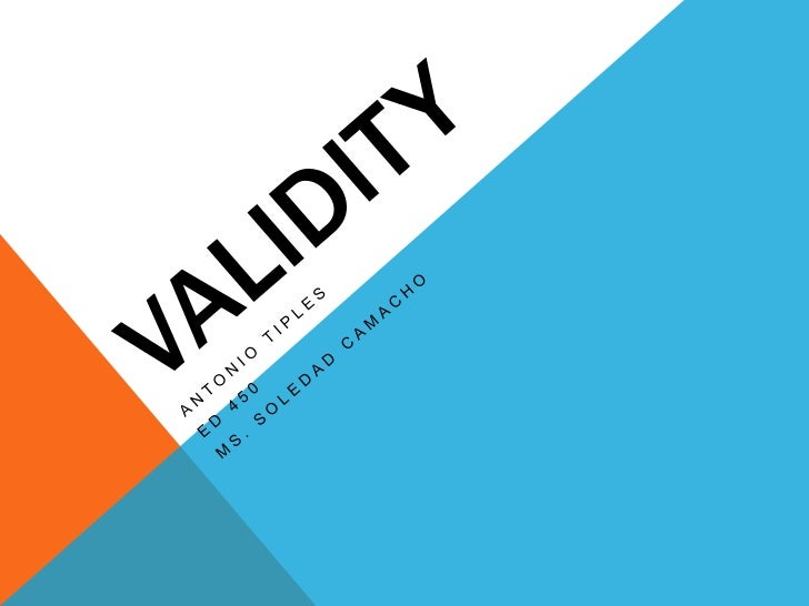 Chapter 6: Validity