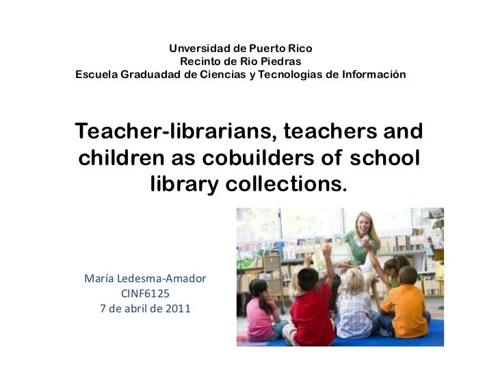 Teacher librarians, teachers and children as cobuilders of