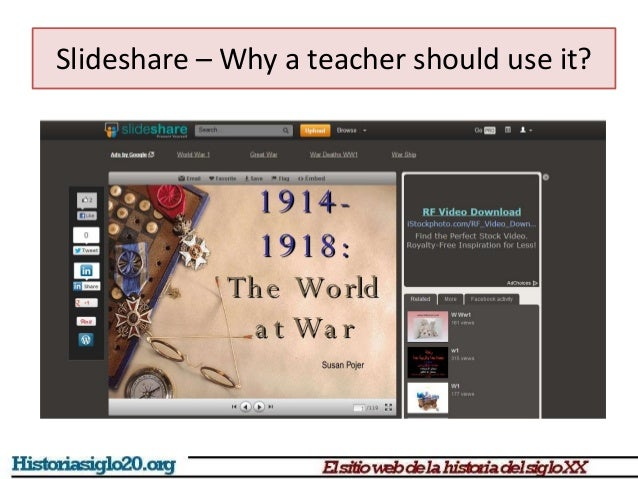 Slideshare for geography and history teachers