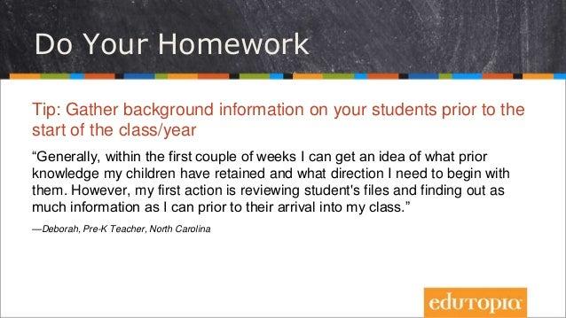 Homework strategies for students