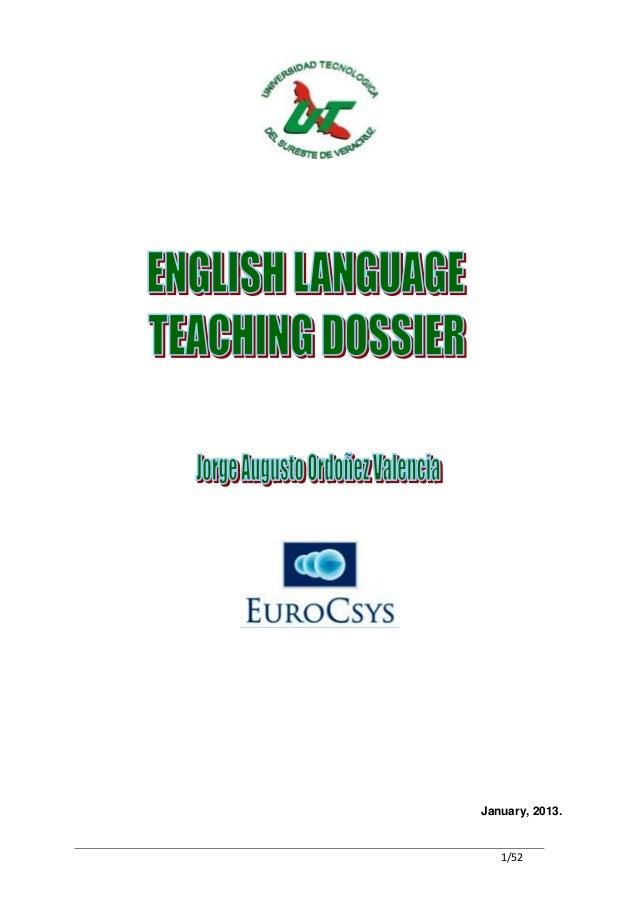 Teacher dossier level 3