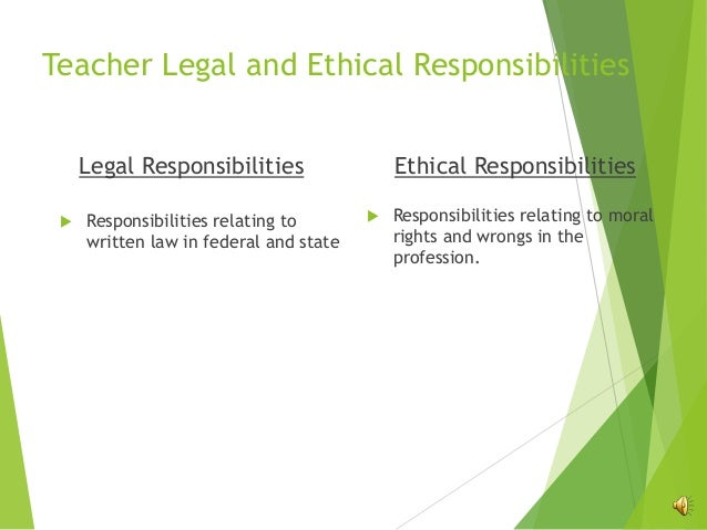 ethical and legal obligations This is the second discussion topic in a series of five dealing with ethical, professional, and legal obligations of clinical practice junior doctors tend to lack.