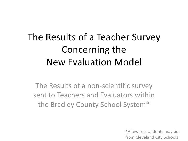 Teacher evaluation survey results