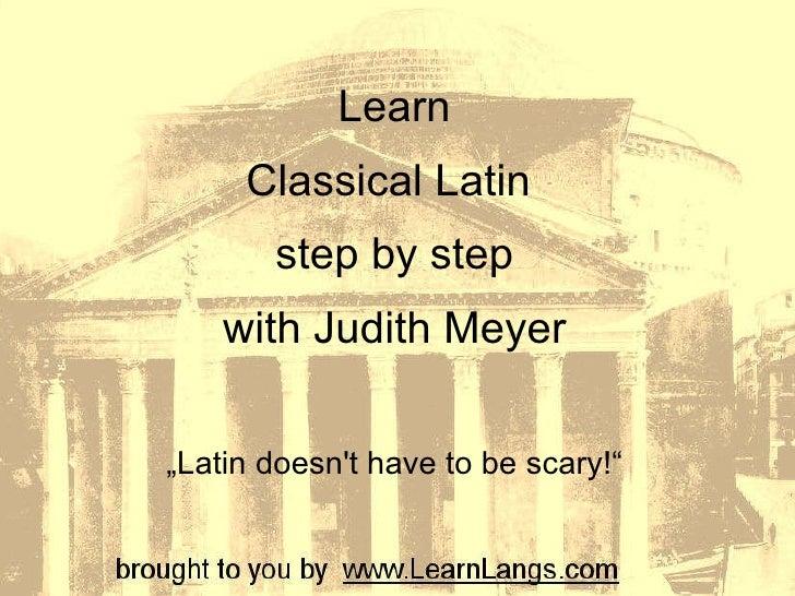 Latin From Zero to Hero - Teacher presentation