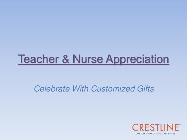 Teacher & Nurse Appreciation Celebrate With Customized Gifts