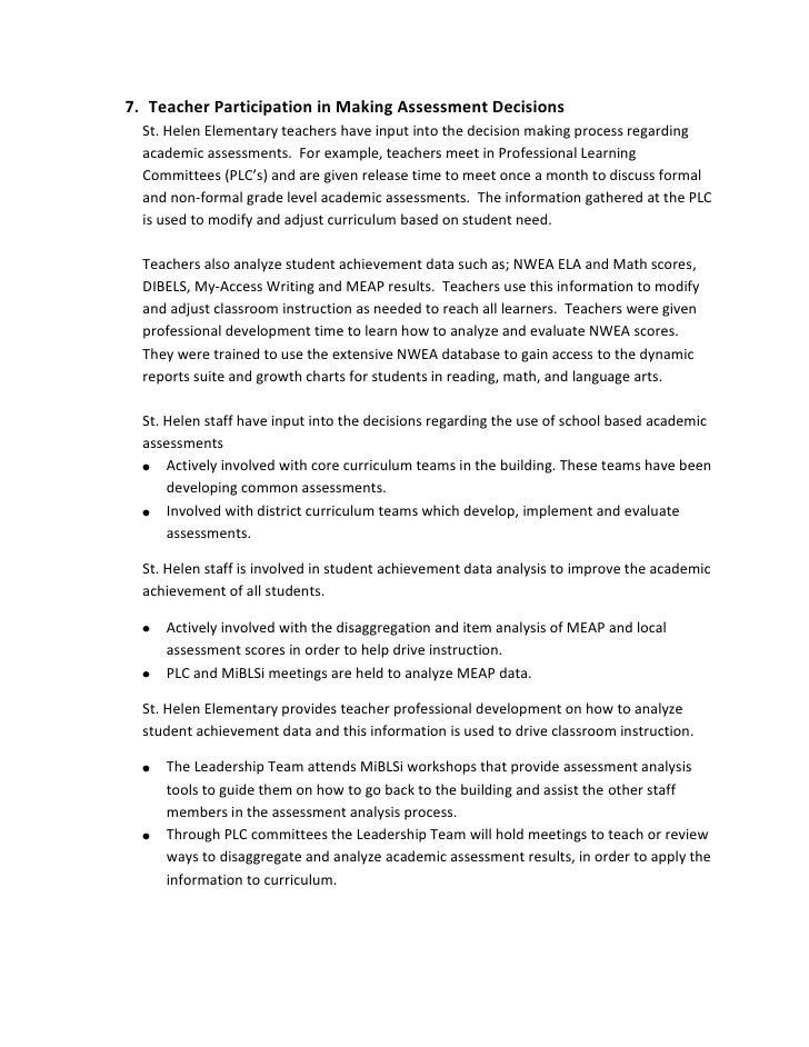 <ul><li>Teacher Participation in Making Assessment Decisions
