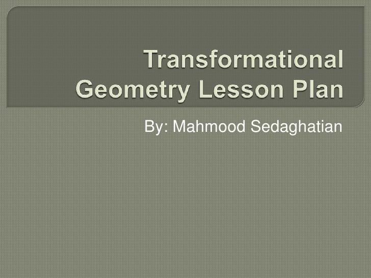 Teacher ppp on transformation