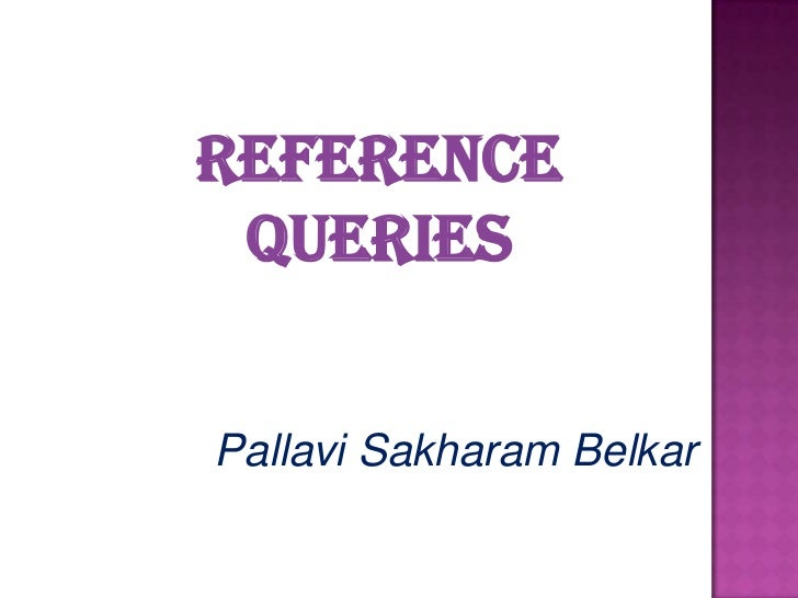 Reference Queries