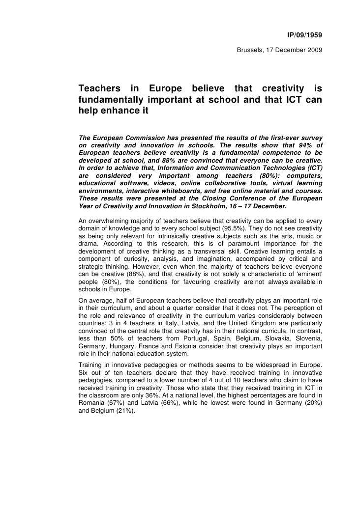 IP/09/1959                                                             Brussels, 17 December 2009     Teachers in Europe b...