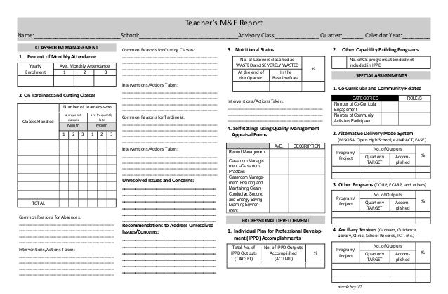 how to write a monitoring and evaluation report