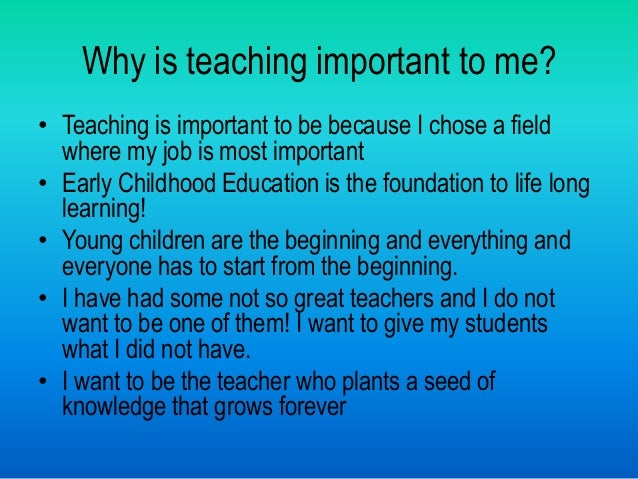 why teachers are important
