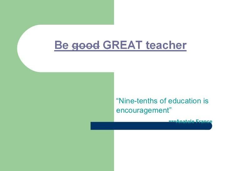 Teachers training presentation