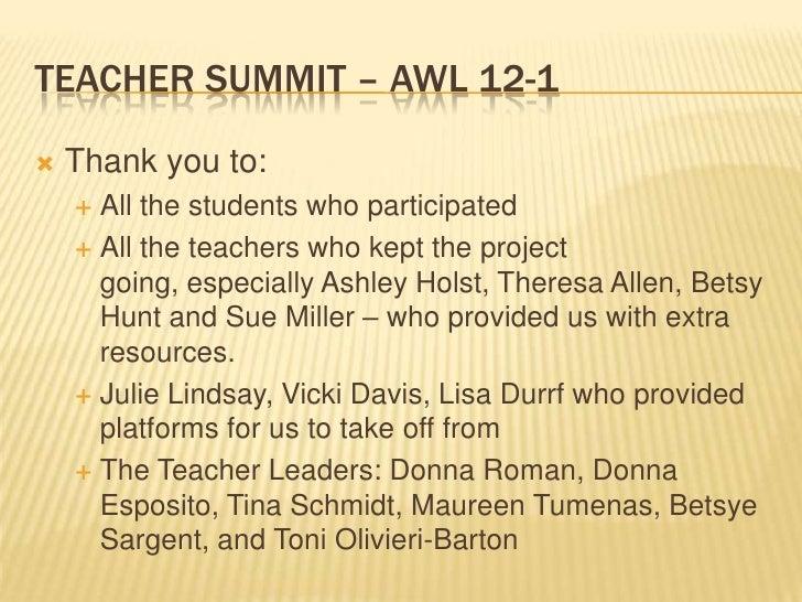 A Week in the Life Teacher Summit
