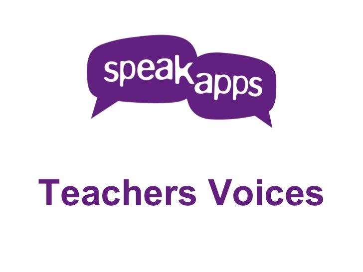 Teachers Voices outline - Catalan