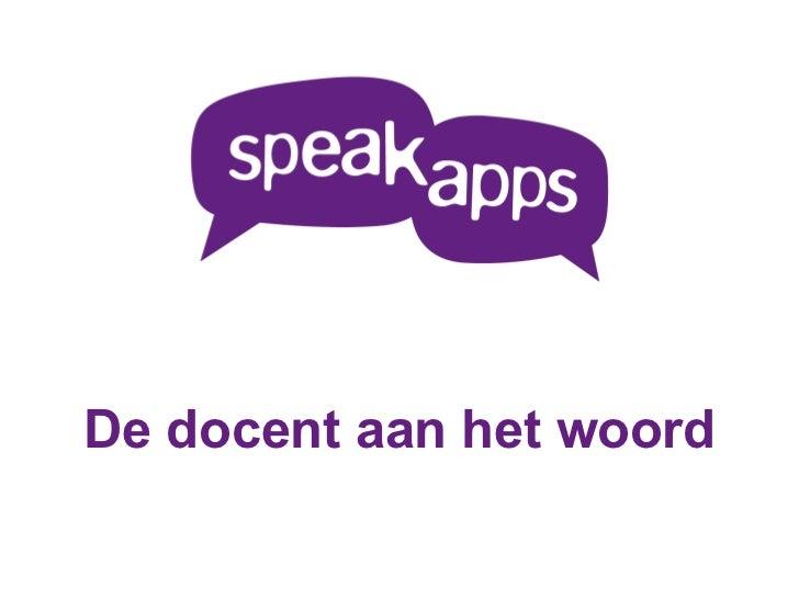 Teachers Voices outline - Dutch