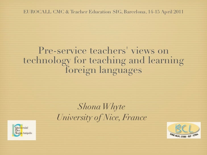 Pre-service teachers views of technology for teaching and learning foreign languages