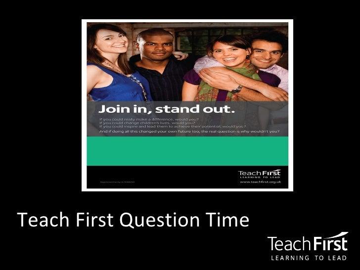 Teach First Question Time