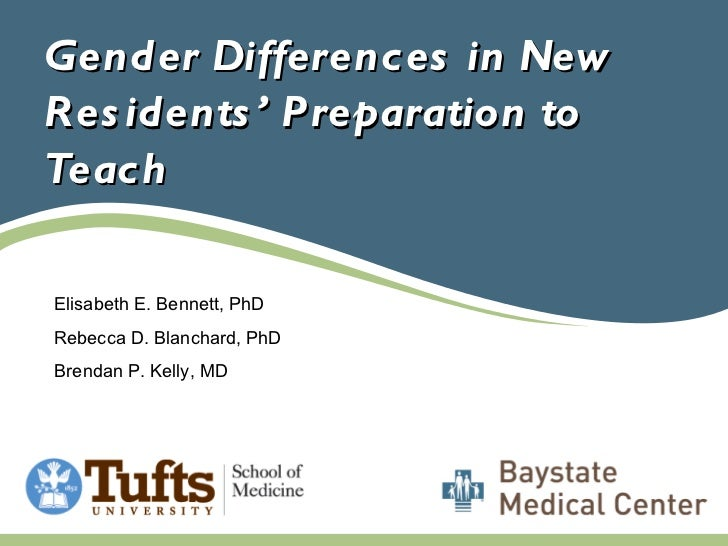 Gender Differences in New Residents' Preparation to teach