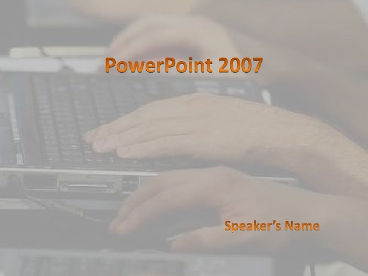 Teach Grade School Students How To Use Power Point 2007
