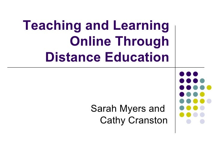 EEC Presentation: Teaching And Learning Online