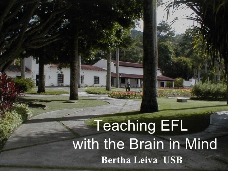 Teaching EFL  with the Brain in Mind Bertha Leiva  USB