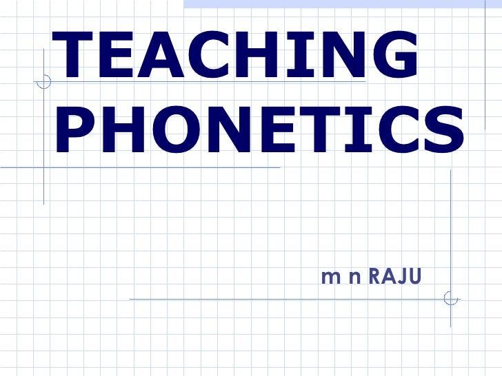 Teaching English Sounds