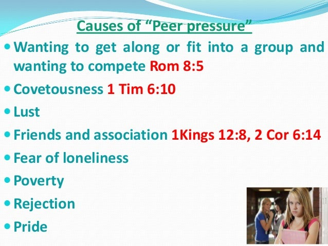 Causes and effects on peer pressure?