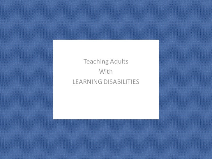 Teaching adults with learning disabilities color