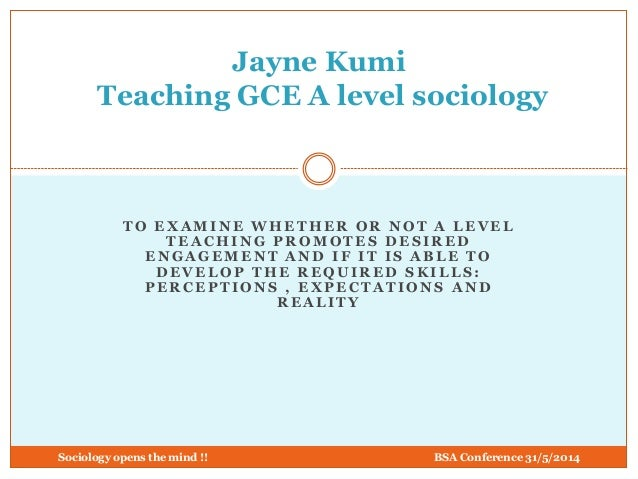 Teaching A Level Sociology by Jayne Kumi