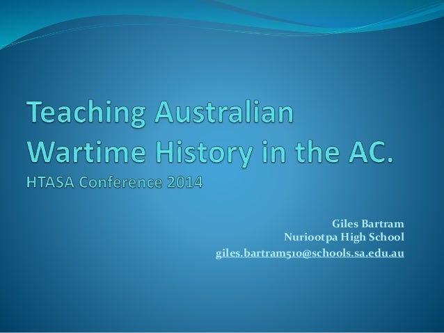 Teaching australian wartime history