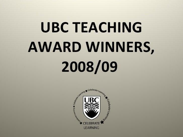 Teaching Awardees Slideshow