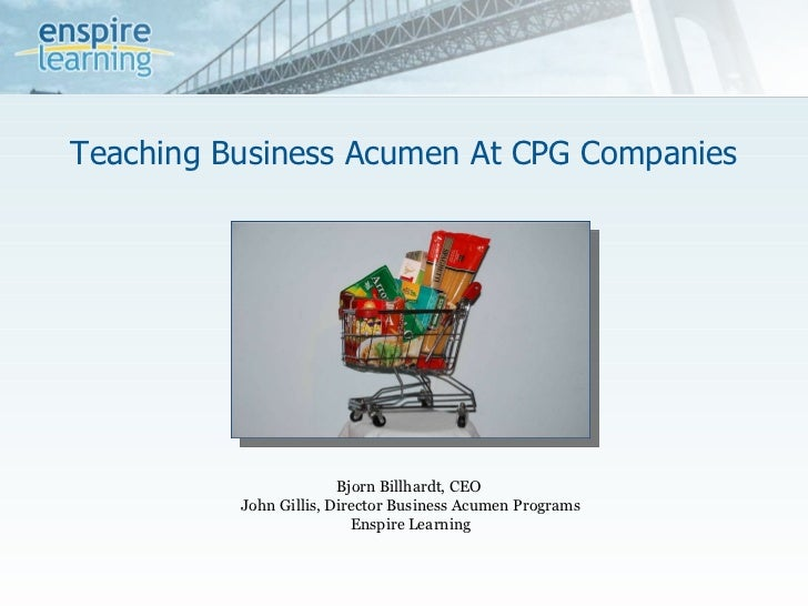 Teaching Business Acumen at CPG Companies