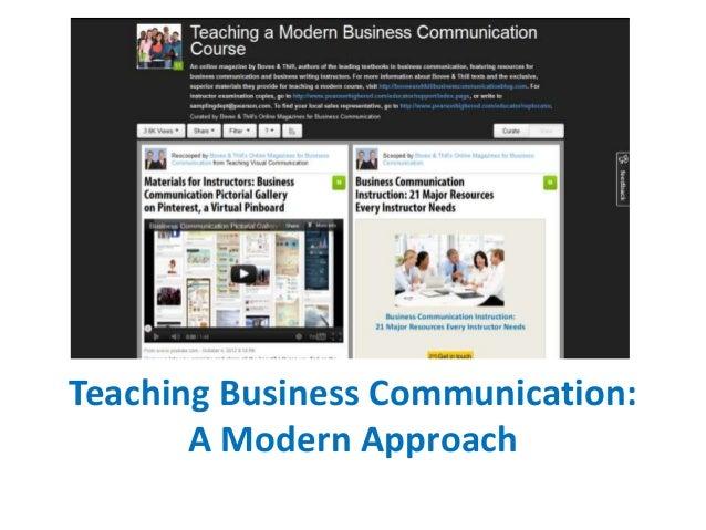 Teaching Business Communication: A Modern Approach