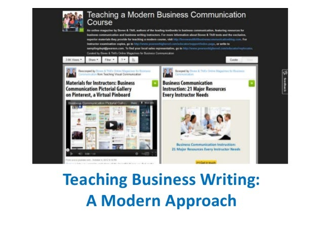 Teaching Business Writing: New Research, Class Handouts, and Multimedia