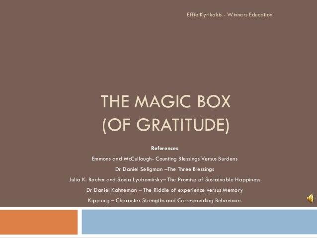 The Magic Box of Gratitude