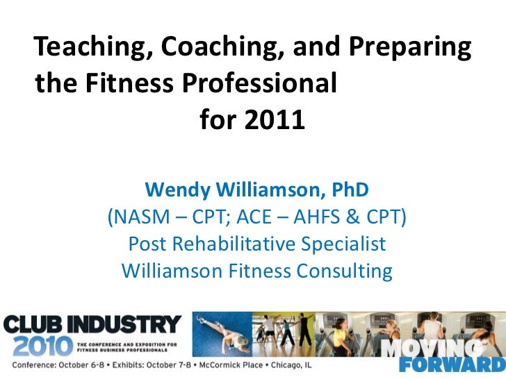 Teaching Coaching And Preparing The Fitness Professional