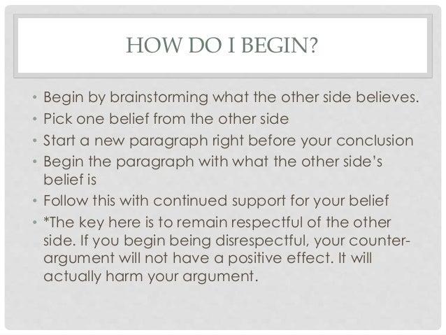 Argument research paper essay