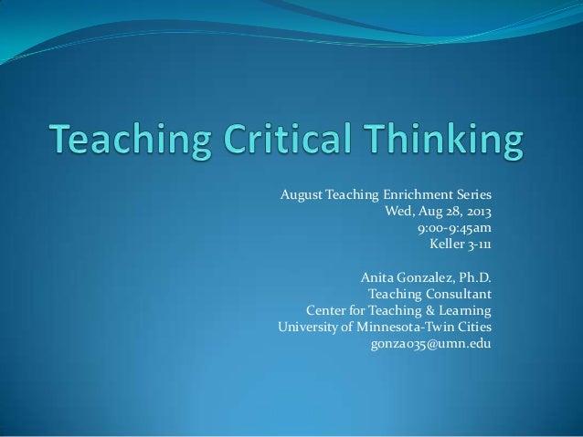 critical thinking pedagogy