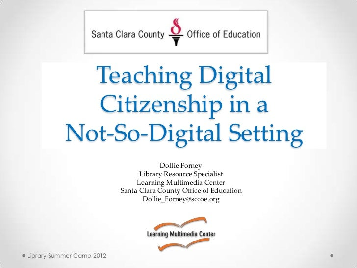 Teaching digital citizenship in a not so-digital setting