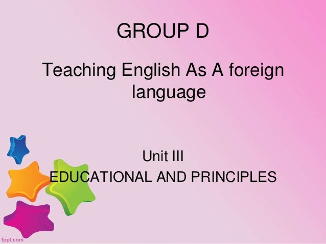 teaching english as a foreign language This method of teaching where you force your students to only speak english is known as the direct method or the natural method of teaching a foreign language, and focuses heavily on correct pronunciation and gaining conversational skills.