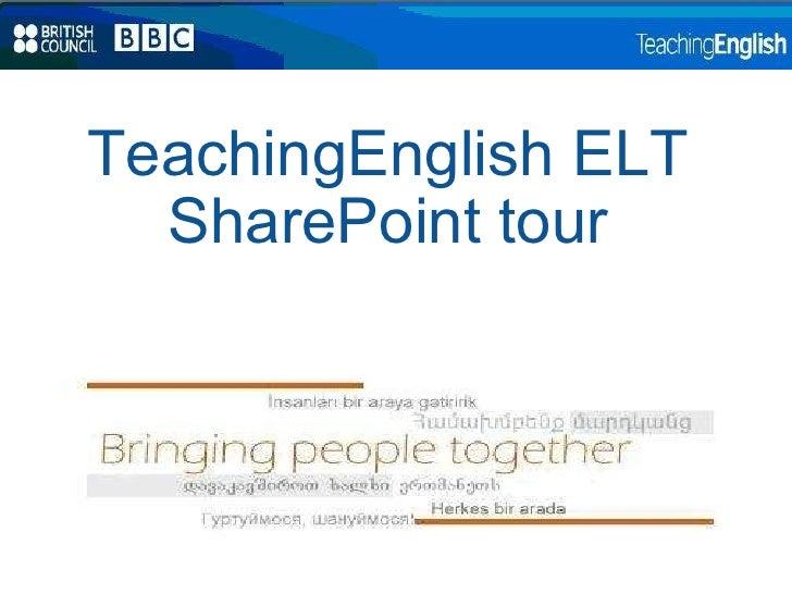TeachingEnglish ELT SharePoint tour