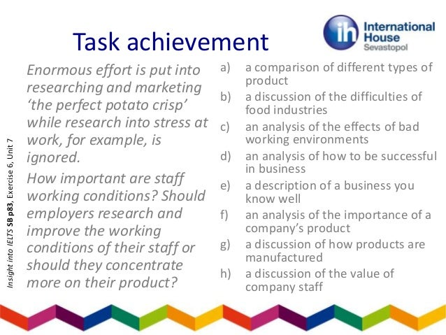 write an essay on task analysis
