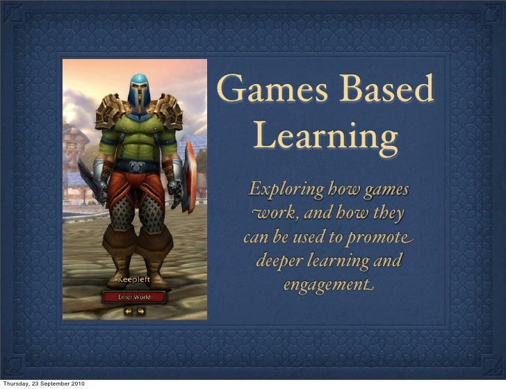 Games in learning: how games teach understanding
