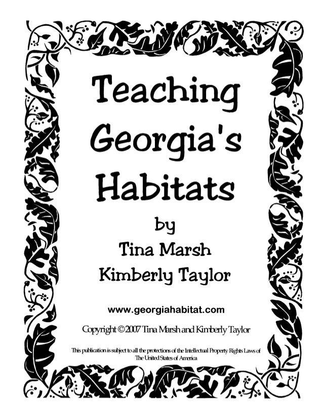 Teaching georgias habitats 08 03-07