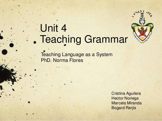 Teaching grammar final